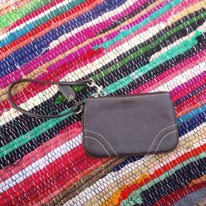Coach Brown leather Wristlet